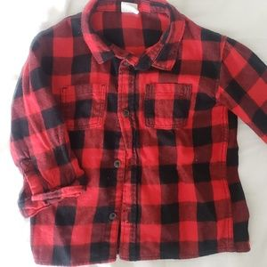 H&M Flannel Button Down Toddler